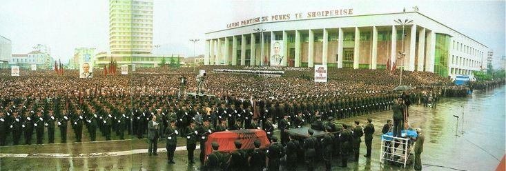 Enver Hoxha funeral, April 1985.