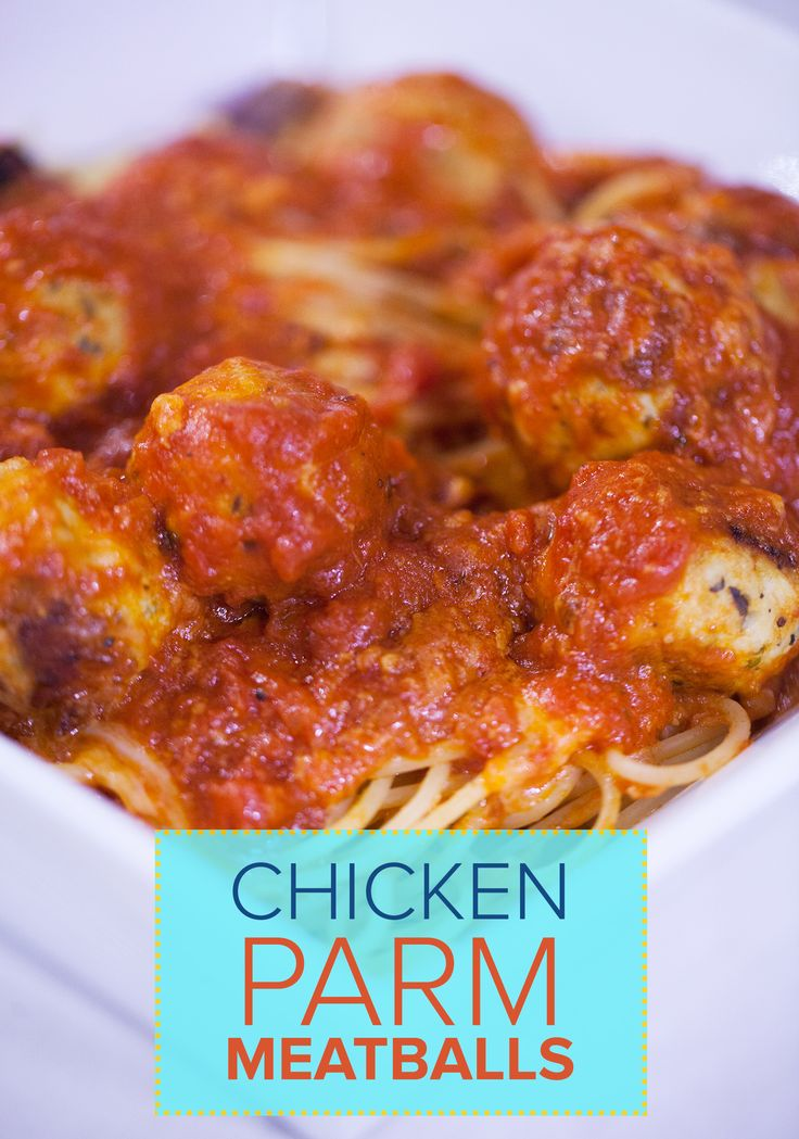 Chef Alton Brown takes chicken parm to a whole new level with this meatball recipe. You can have two of your favorite Italian dinner in one.