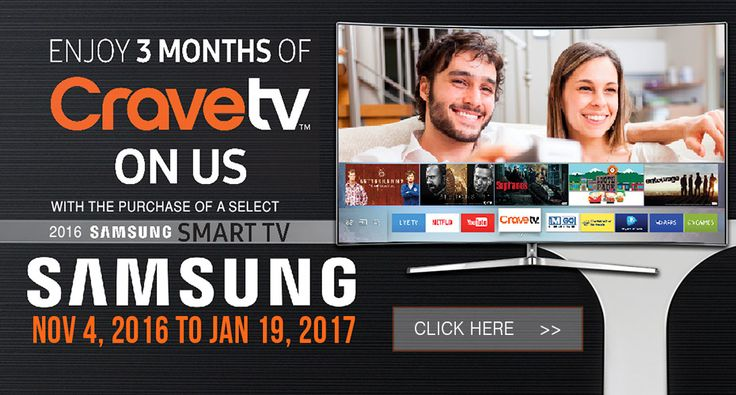Enjoy 3 months of CraveTV on us!