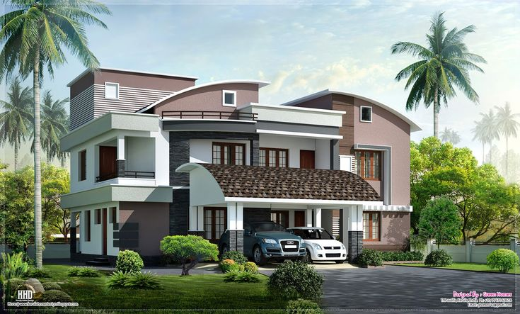 Meter Square Yards Bedroom Modern Villa Designed Green Homes Square Feet Contemporary Home Exterior House Design