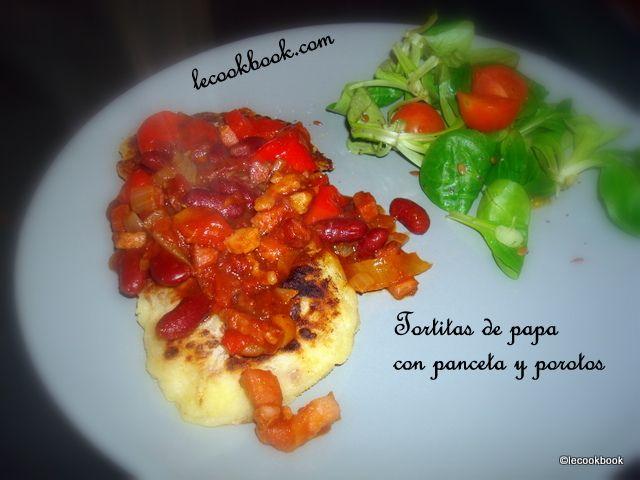 Tortitas de papa con panceta y porotos | Le Cookbook