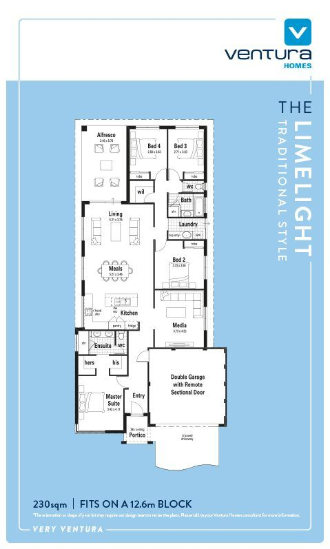 Discover The Limelight, a New Home Design with great design features, by Ventura Homes Western Australia.