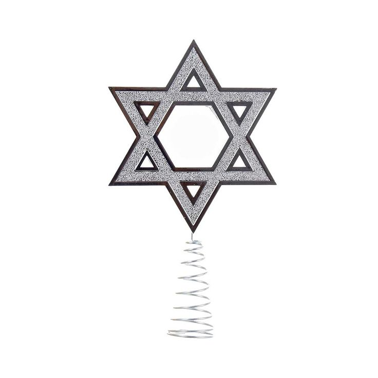 Silver Hanukkah Tree Topper