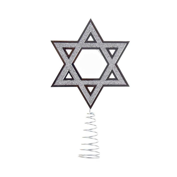Silver Hanukkah Tree Topper