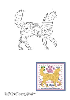 Golden Retriever Iris Folding Pattern on Craftsuprint designed by Margaret Jones - Beautiful Golden Retriever Iris Folding Pattern, what a nice card to make for someone who owns one of these great dogs! - Now available for download!