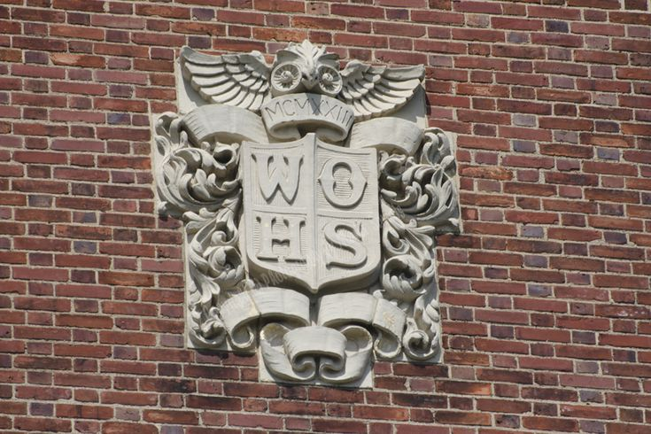 1923- Detail from Seton Hall Preparatory School, West Orange, NJ (formerly West Orange High School)