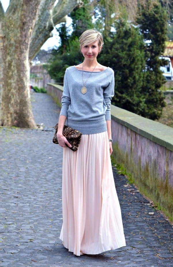 Moda per principianti: Abbinare la Gonna Lunga per una Donna Rettangolo