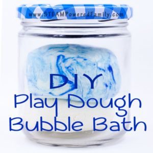 DIY Play Dough Bubble Bath - Easy clean fun!