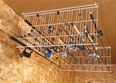 Fishing Pole Storage Idea for the shed