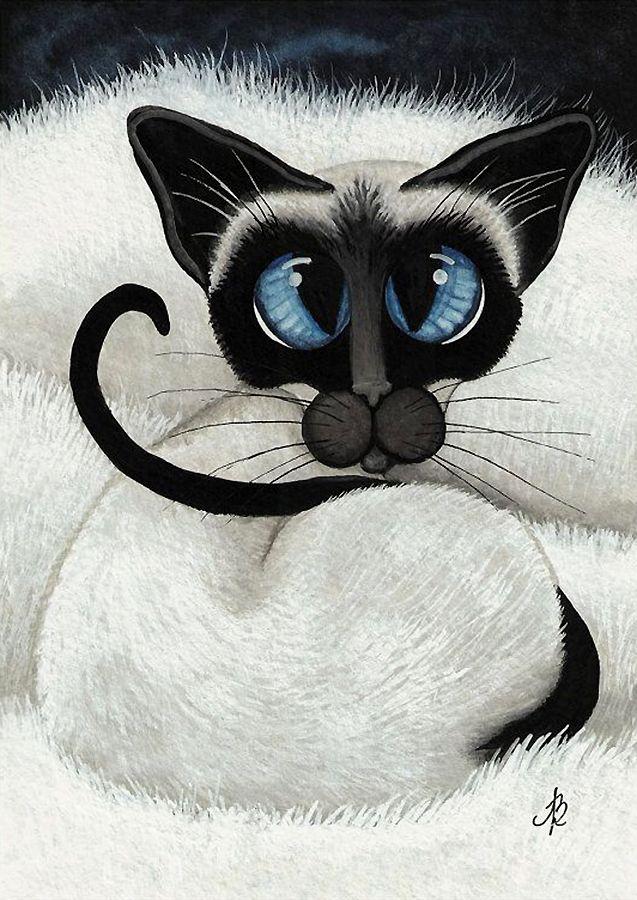 """""""Getting Ready for a Cat Nap"""" par Amy Lyn Bihrl"""
