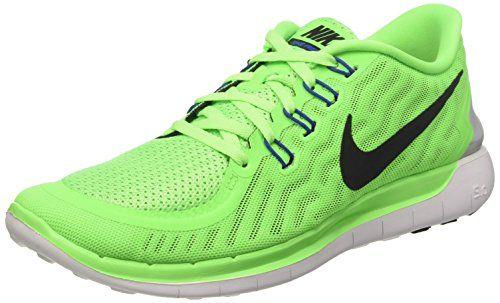 Nike Free 5.0, Damen Laufschuhe, Grün (Spannungsgrün/Weiß/Racer Blue/Schwarz 300), 36.5 EU (3.5 UK) - http://on-line-kaufen.de/nike/36-5-eu-nike-free-5-0-damen-laufschuhe-12