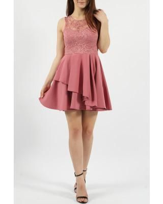 Lace Double Frill Skater Dress