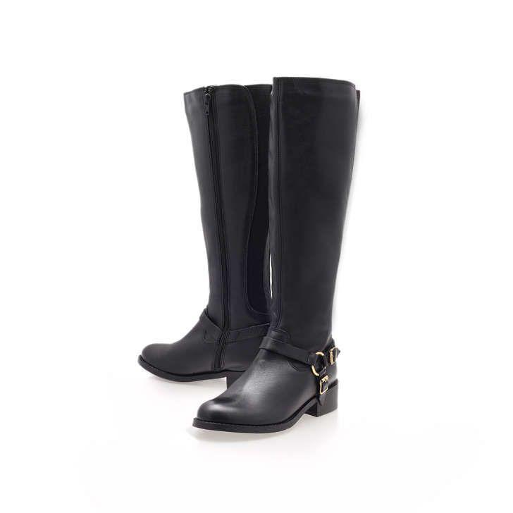 Petra Black Low Heel Knee Boots By Carvela Kurt Geiger | Kurt Geiger