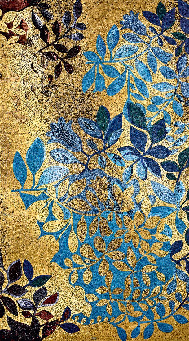 sicis tile mosaics, blue gold