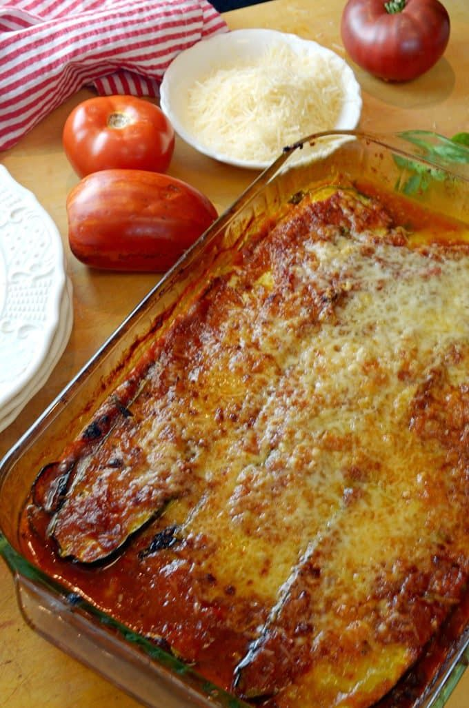 Baked Zucchini Parmesan with Homemade Tomato Sauce Recipe from Platter Talk