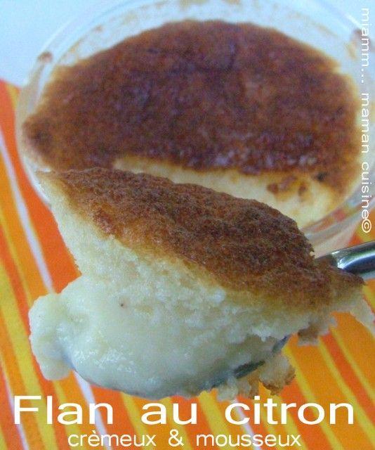 flan au citron crèmeux & mousseux Jamie Oliver