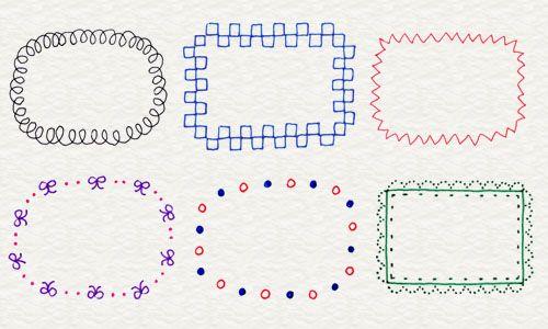 2-6. 便利なフレームやふきだし | 4色ボールペンで!かわいいイラスト描けるかな