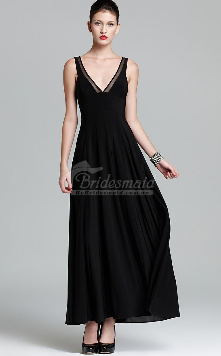 Enjoy The Custom Made Black Chiffon V Neck Ankle Length Bridesmiad Dress With Various Shades Of Colors Affordable Bridesmaid Featuring Latest