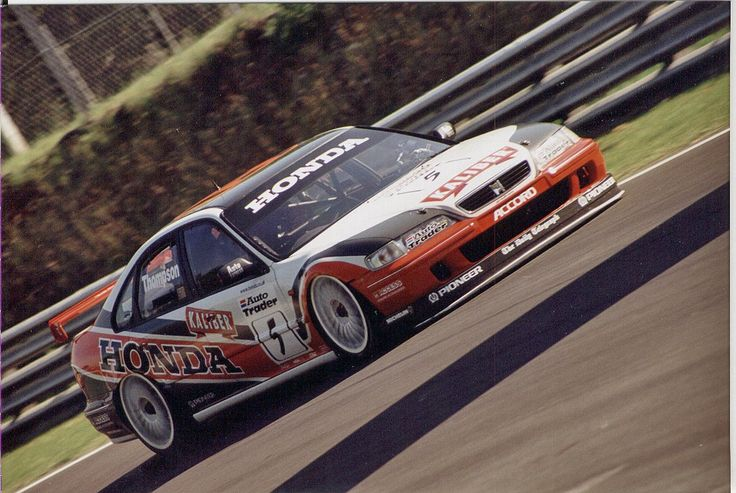 James Thompson established himself as a future BTCC champion during his early years at the Prodrive Honda team - here he is in 1998.