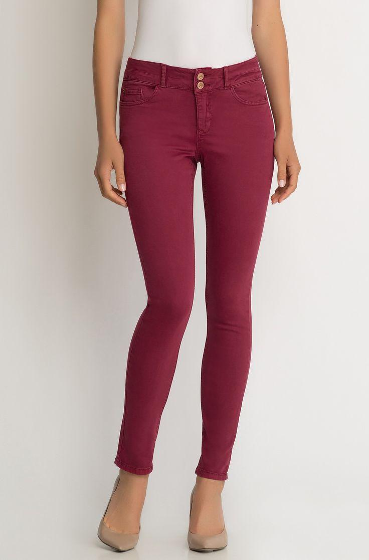 Jednobarevné skinny džíny
