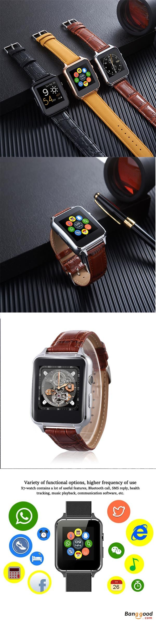 US$26.99 + Free shipping. Smart Watch Bracelet Bluetooth Pedometer Sedentary Reminder Sleep Monitoring Anti-lost Remote Camera Time Weather Music Synchronous. Colors: Gold, Black, Brown. Click for more!