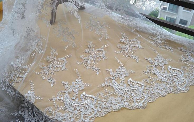 Dress lace fabric allovered,embroidered lace fabric fashion fabric,3D lace fabric,wedding dress lace fabric,French Lace,embroidery lace by AnnabelleDIY on Etsy