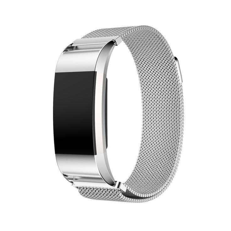 YORKING Replacement Bands for Fitbit Charge 2 Fitness Wristband Magnetic Milanese Loop Wrist Strap Clasp Stainless Steel Metal Watch Bands Bracelet (Silver). Fitbit Charge 2 (2016 Model) Does not fit other Fitbit Models. Stainless steel solid wire mesh with interlock clasp. Size can be adjusted according to the circumstance of individual wrist. Quick release clasp. Special designed connector, easy to install and remove, no tools needed.