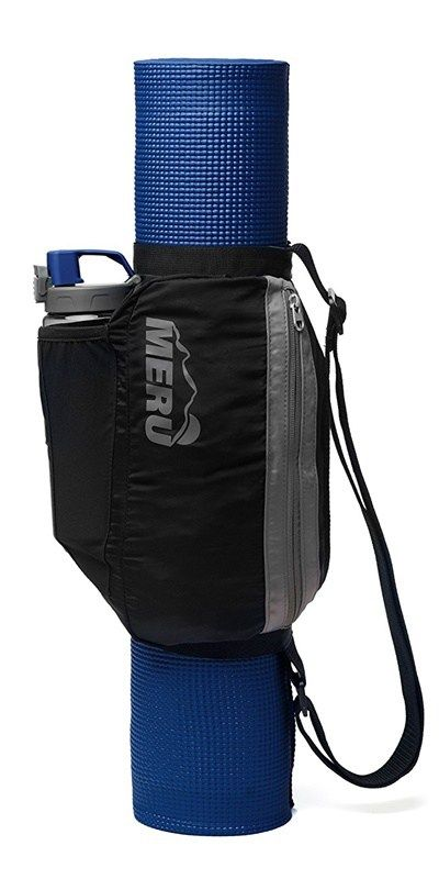 This is a perfect way to carry your yoga mat! Enter to #win the Meru Lite-Gear Yoga sling #giveaway - easily carry your yoga mat, keys, phone, waterbottle - all the essentials! #yoga #yogamat #yogasling #exercisemat