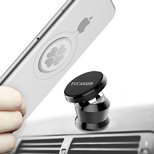 Magnetic Car Mount Holder, Universal Mobile Phone Holder for Car, Dashboard Cell Phone Holder, 360° Rotation Car Phone Stand for iPhone X 8 7 6 Plus, Samsung Galaxy S7 S8 S6 Edge, GPS or Mini Tablet. For product info go to:  https://www.caraccessoriesonlinemarket.com/magnetic-car-mount-holder-universal-mobile-phone-holder-for-car-dashboard-cell-phone-holder-360-rotation-car-phone-stand-for-iphone-x-8-7-6-plus-samsung-galaxy-s7-s8-s6-edge-gps-or-mini-tab/