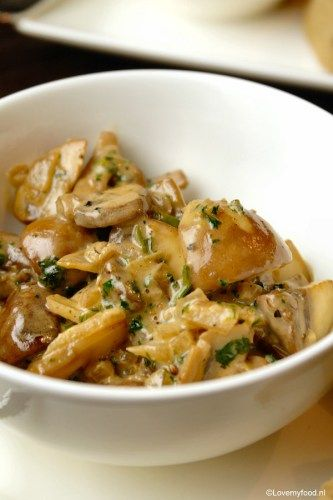 Champignons in sherry-roomsaus 2