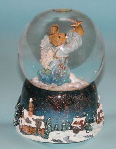 Angel Dust Music Box Snow Globe Part of the Boyds Bears Collection | eBay
