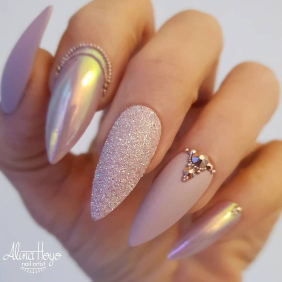 32 Gorgeous Nail Art Images Inspired By Summer Motifs: 51 Stylish Acrylic Nail Designs For New Year 2019