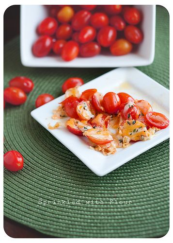 Baked Cheesy Chery Tomatoes: Baking Cheesy, Side Dishes, Healthy Dinners, Cherry Tomatoes, Baking Tomatoes, Cheesy Tomatoes, Fast Dinners, Cherries Tomatoes, Cheesy Cherries