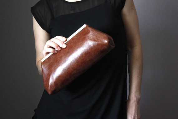 Leather clutch  leather clutch purse  frame by ScarfObsession, $69.00