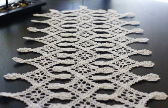 This white doily is crochet with 1.1mm hook (US11) and 100% cotton, so it is very light and laced.  It is a good thing to make your home more unique