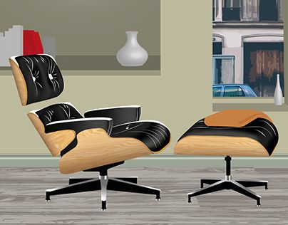 """Check out new work on my @Behance portfolio: """"Fauteuil Lounge Eames -Illustrator"""" http://be.net/gallery/46748339/Fauteuil-Lounge-Eames-Illustrator"""