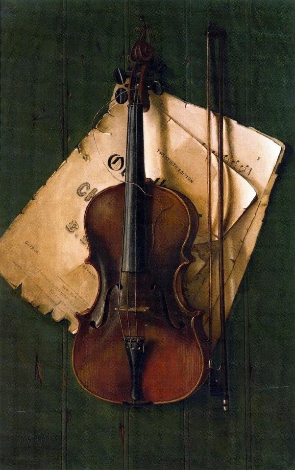 My violin teacher had a copy of this painting in her studio....and now so do I.....