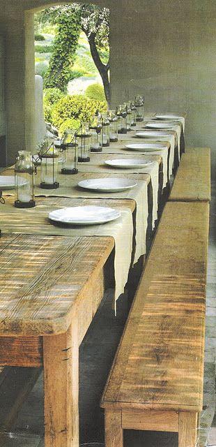 rustico mesa de comedor
