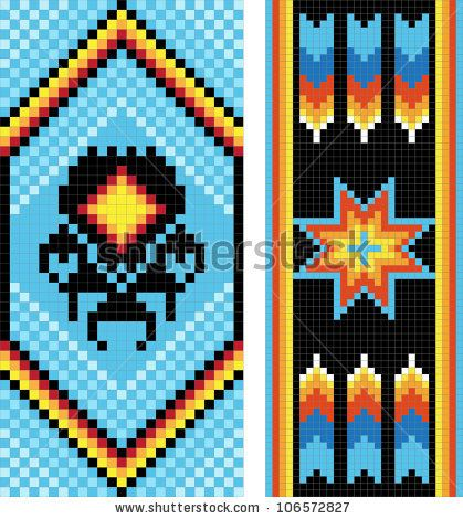Berühmt 60 best LoomBeadwork Pattern: Native American images on Pinterest  SH41