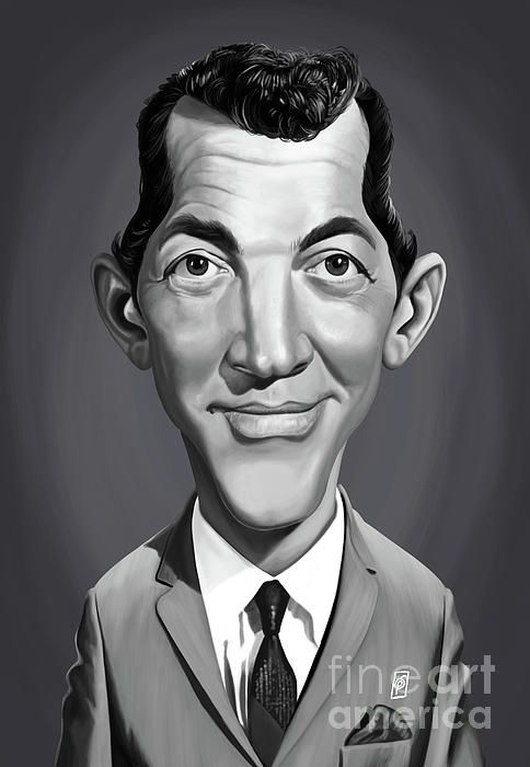 Dean Martin art | decor | wall art | inspiration | caricature | home decor | idea | humor | gifts
