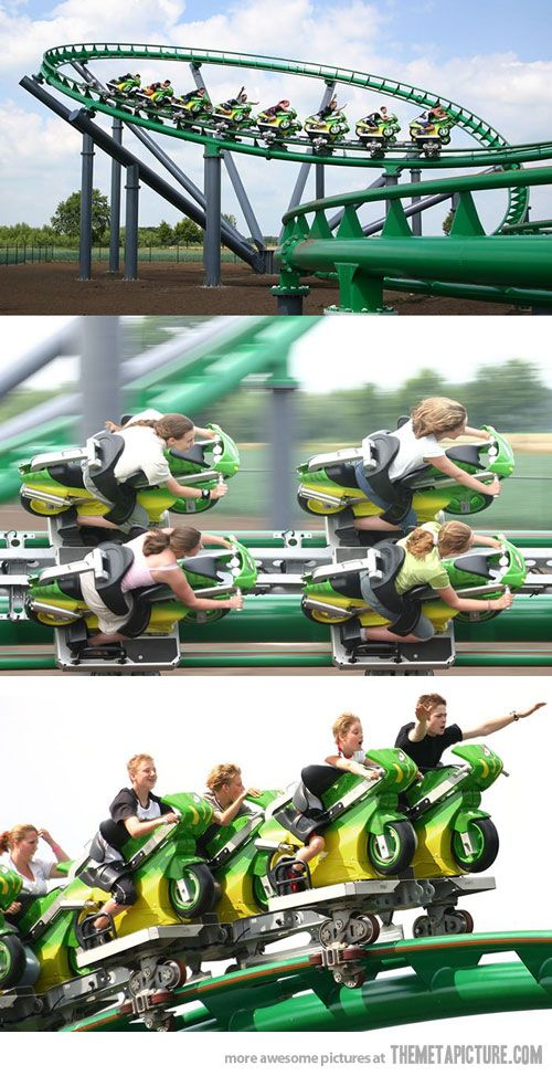 Awesome bike roller coaster
