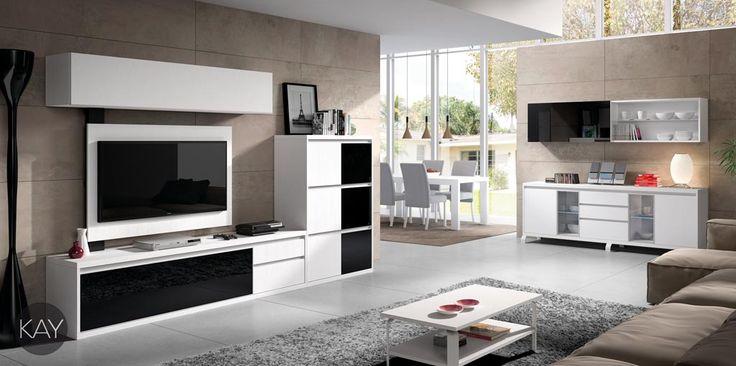 Ambiente 2908 sal n con una composici n de muebles para - Muebles para el televisor ...