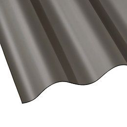 Clear Corrugated PVC Roofing Sheet 1830mm x 762mm, Pack of 10 | Departments | DIY at B&Q
