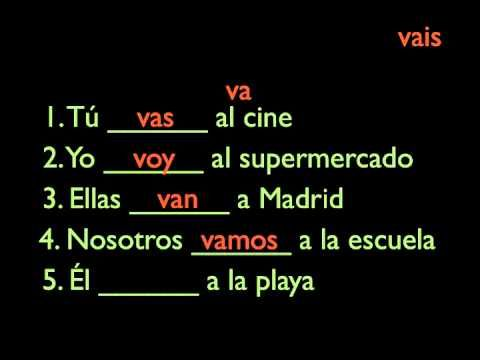 Irregular Verbs SER  and IR, Present Tense // Tanscription + translation also available at http://www.happyhourspanish.com/grammar-lesson-short-irregular-present-tense-verbs-ser-and-ir/