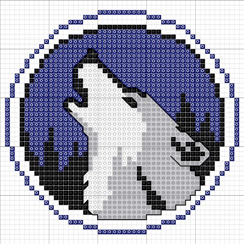 Wolf cross stitch pattern!