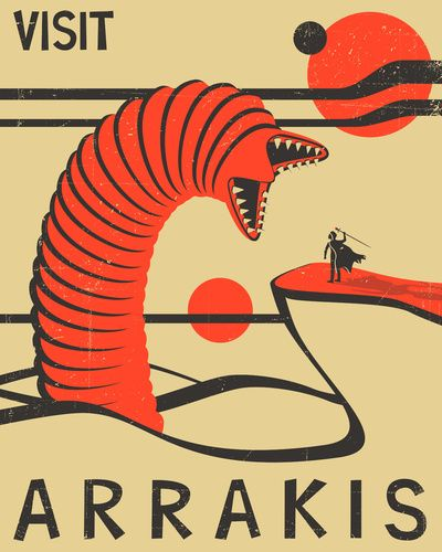 Visit Arrakis Art Print  LOVE this. From the Dune series. Would love to visit Arrakis.