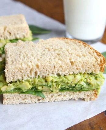 Smashed Chickpea & Avocado Salad Sandwich-my all-time favorite sandwich! You HAVE to try it! | twopeasandtheirpod.com