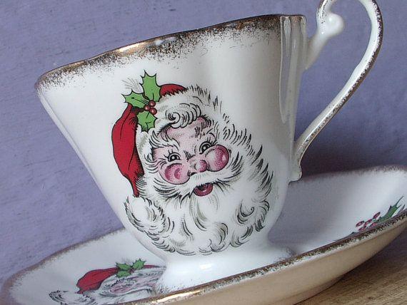 Vintage Royal Standard Santa Claus tea cup and by ShoponSherman