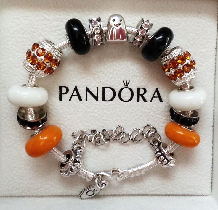 New Charm Bracelets: NEW Authentic Pandora Charm Bracelet Halloween Ghost Cute