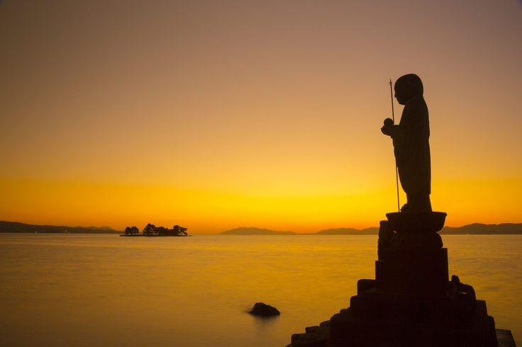 宍道湖 (Lake Shinji) 宍道湖嫁ヶ島の残照【絶景NIPPON】